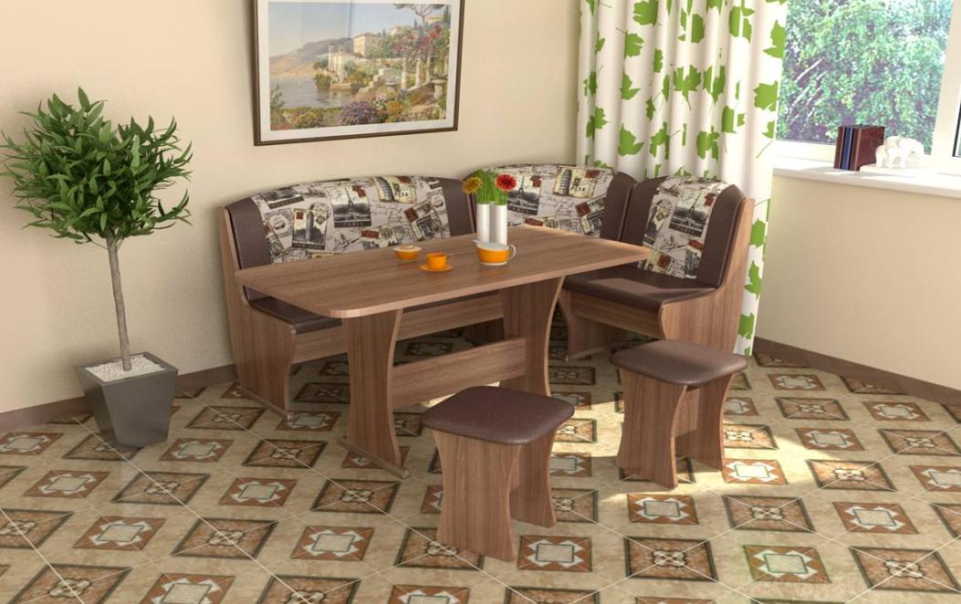 Кухонный уголок мебель кук кухни с вогнутыми фасадами на заказ